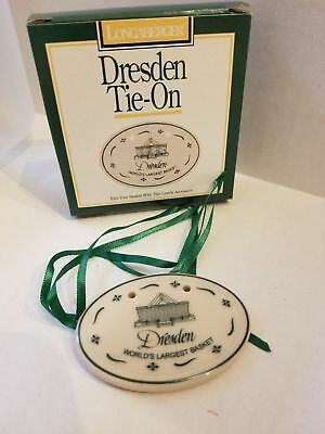 Longaberger Green Dresden World's Largest Basket Tie-on NEW