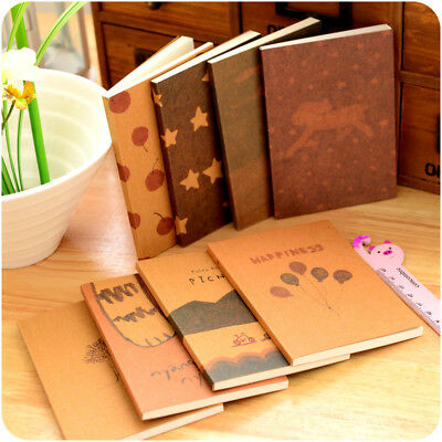 Retro Vintage Journal Diary Hand Painted Notebook Blank Notepad Student Supplies