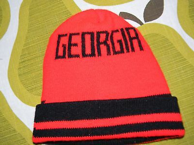 vtg 80s UNIVERSITY OF GEORGIA BULLDOGS knit winter hat beanie UGA FOOTBALL 5abdffed6