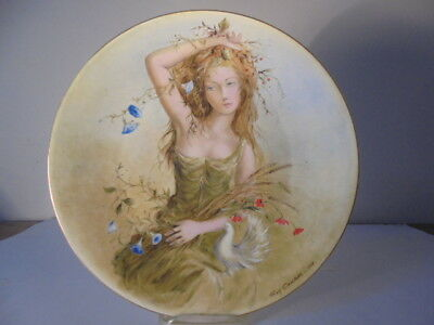 """1978 GUY CAMBIER """"SUMMER GIRL"""" 1ST PLATE-GIRLS OF THE SEASONS D'Arceau-Limoges"""
