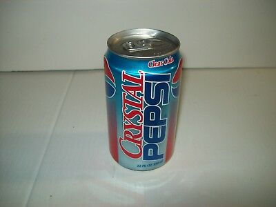 Aluminum Crystal Pepsi Soda Can, 12 OZ., Open from the Bottom