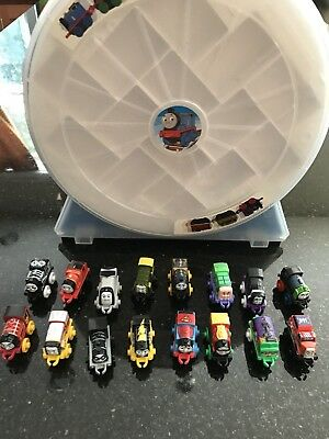 Thomas the Train and Friends Minis Piece Train Lot with Carrying Case
