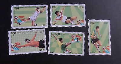 Cambodia 1993 World Cup Football Championships SG1317/21  MNH UM unmounted mint