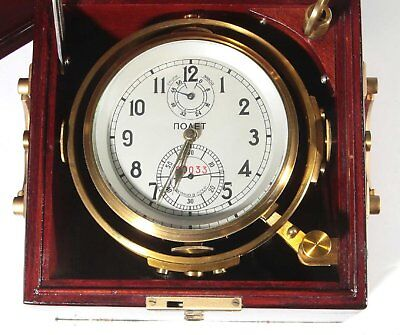 Russian Marine Chronometer - High Quality Poljot, Recently Serviced