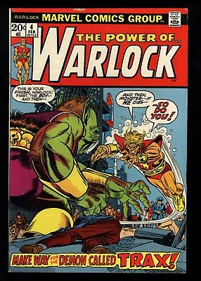 Warlock (1972) #4 1st Print Apollo Triax Demon Mike Friedrich Gil Kane C/A FN/VF