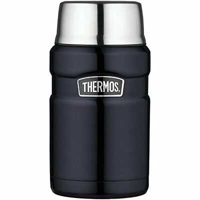 Thermos Stainless Steel King 24-Ounce Food Beverage Jar  Midnight Blue Hot/Cold