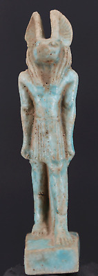 Ancient Egyptian Faience Anubis Amulet - ca. 6,7 cm.