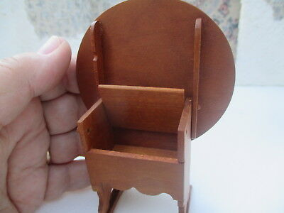 Dollhouse Miniatures American Antique Tilt Top Table Tavern Chair, Carl Anderson