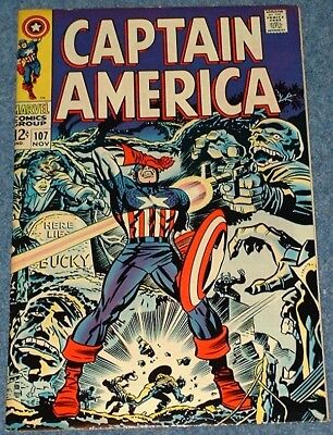 CAPTAIN AMERICA # 107 (1968) - Cap Goes Mad? - Classic Silver Age Marvel!