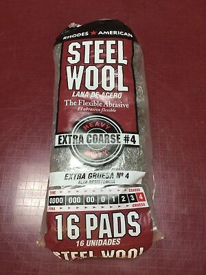 Homax Steel Wool Extra Coarse #4 16 Pack New #106107