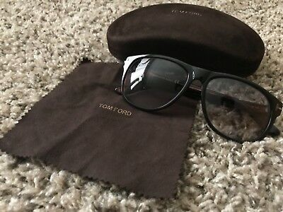 d6e5ae8e0926 TOM FORD OLIVIER TF 236 05B Black Havana Gray Gradient Men s Square ...