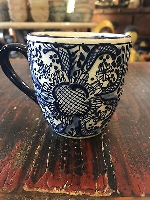 Talavera Coffee Mug Handmade Mexican Pottery Beautifully Painted Orted Color