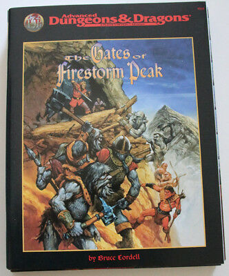 "Advanced Dungeons and Dragons - ""The Gates of FIrestorm Peak"" SELTEN"