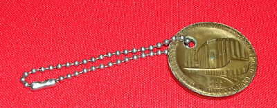 Vintage Gold Ford Rotunda Key Chain Commemorating 50 Years (1903-1953)