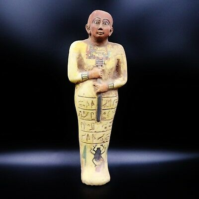 XX-Large Antique King Ushabti (Shabti) Statue Figure of Ancient Egyptian
