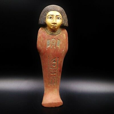 Fine Antique Faience Ushabti (Shabti) Statue Figure of Ancient Egyptian...RARE