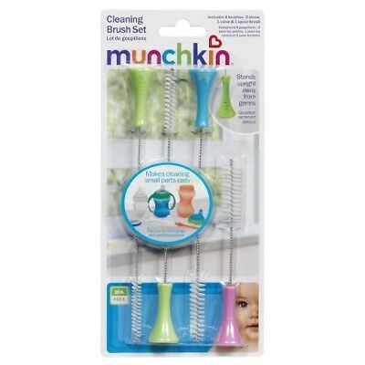 Munchkin Sponge Bottle Brush with Nipple Brush, Colors May Vary 1 ea