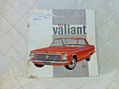 1963 Plymouth Valiant Sales Brochure and '63 Showdown Competition Info Canadian