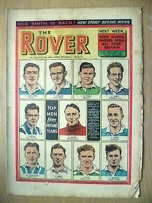 Comic-THE ROVER, No.1522,28 Aug 1954;PICTURE of FAMOUS FOOTBALLERS;TOP MEN of GB