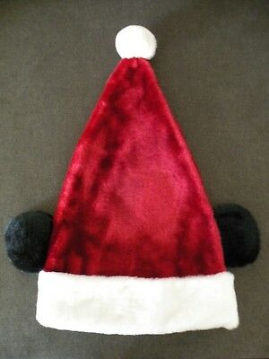 b06817b6bf50e Authentic Disney Parks Plush Holiday Santa Hat w Mickey Mouse Ears - Size  Adult