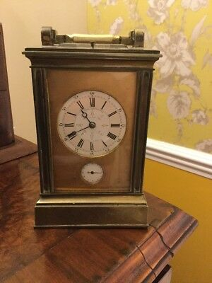 Fine Quality Alfred Dumas repeater Carriage Clock With Unusual Chinese Dial