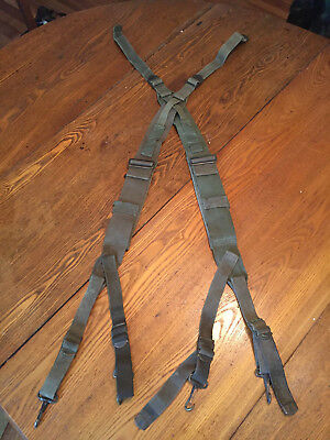 US Army Military WWII Korea M1945 Suspenders Straps
