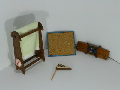 5 Piece Lot Handmade Dollhouse Miniature Items for Childs Room - OOAK by Sara D.