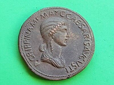 14. Agrippina Minor,  Extremely Rare Sestertius - 30,33g; 36mm
