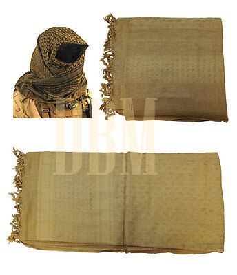 Military Shemagh Tactical Arab Desert Keffiyeh Scarf Head Wrap Tan