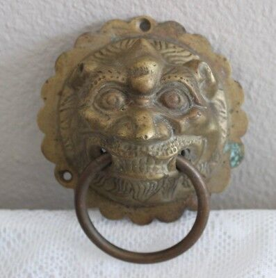 Vintage Brass Gargoyle Door Knocker
