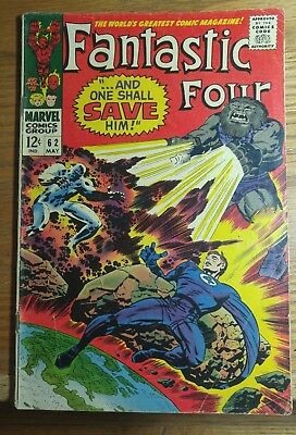 May 1967 Marvel comics Fantastic Four vol 1 #62
