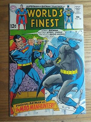 Feb 1969 DC comics Superman & Batman #182