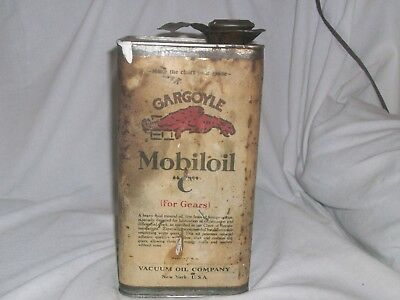 VintageGargoyle Mobiloil can one gallon