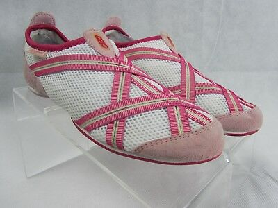 9a018a6de7a REEBOK RUNNING HOT Pink White WOMENS Size 6 Suede and Mesh Knit Split Sole  (S32 -  3.99