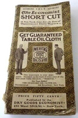 1917 Dry Goods Economist Department Store Buyers Directory to New York