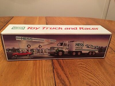 1988 Hess Toy Truck and Racer in original box