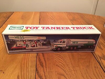 1990 Hess Toy Tanker Truck with horn and back up alert in original box