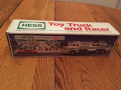 1991 Hess Toy Truck and Racer in original box