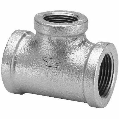 """Anvil 8700122750 Malleable Iron Pipe Fitting, Reducing Tee, 1/2"""" x 1/2"""" x 3/4"""""""