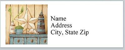 Personalized Address Labels Primitive Country Painting Buy 3 get 1 free (bx 909)