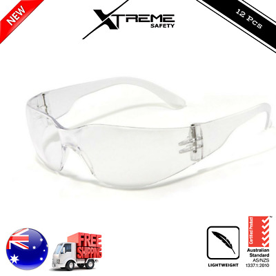 12x Clear Safety Glasses Lens Eye Protection Protective Eyewear Googles