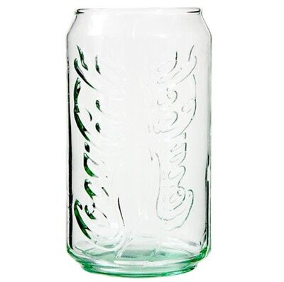 NEW Coca-Cola Green Can-Shaped Beverage Drinking Glass Tumbler - 12 ounces
