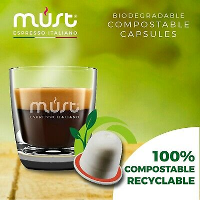100 X Nespresso Compatible Coffee Pods FULLY BIODEGRADABLE CAPSULES