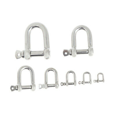M4-M8 Stainless Steel D Shape Shackle Longtime Anti-rust Durable in Use