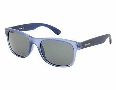 fe30fb3af45 NWT TIMBERLAND Sunglasses TB 9063 91D Polarized Matte Blue / Smoke 53 mm NIB