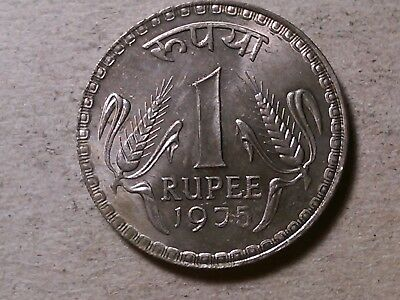 India 1 rupee 1975 Calcutta mint c