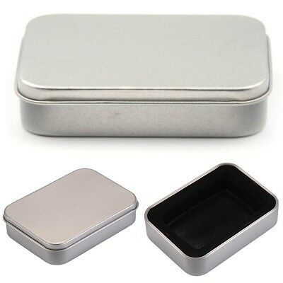Silver Stainless Steel Metal Cigar Cigarette Tobacco Case Pocket Pouch Holder MA