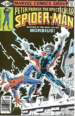 Spectacular Spider-Man #38 (January 1980, Marvel) VF+ Morbius Bronze Age