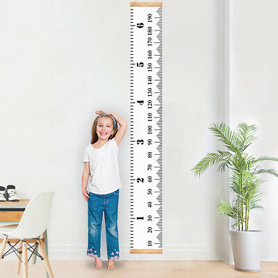 Kids Height Ruler Chart Growth Wooden Children Wall Hanging Personalised Measure