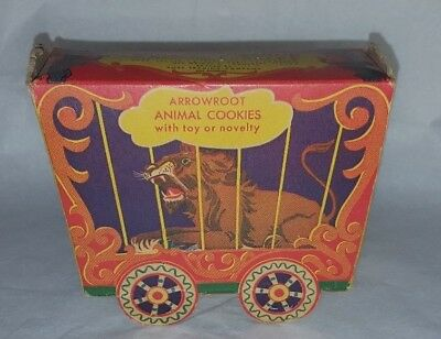 Rare Vtg Treasure Wagon Animal Cookies Crackers Box Los Angeles 1946 Arrowroot